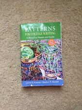 Patterns for College Writing with 2016 MLA Update by Stephen R. Mandell and Laurie G. Kirszner (2016, Paperback)