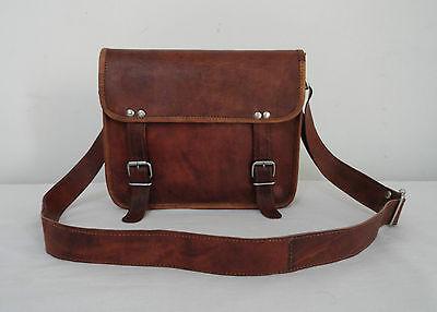 "11x9"" Genuine Leather Messenger Bag Handbag Satchel Tab/iPad CrossBody Bag"