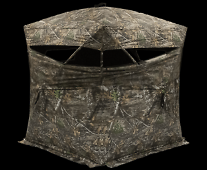 "Rhino Blinds Hunting Blind Oversized 75"" x 75"" Realtree Edge Camo Hub Style NEW"