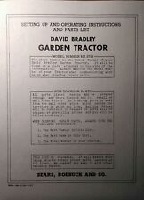David Bradley Sears 9175756 Garden Tractor Amp Plow Owners Amp Parts 2 Manuals