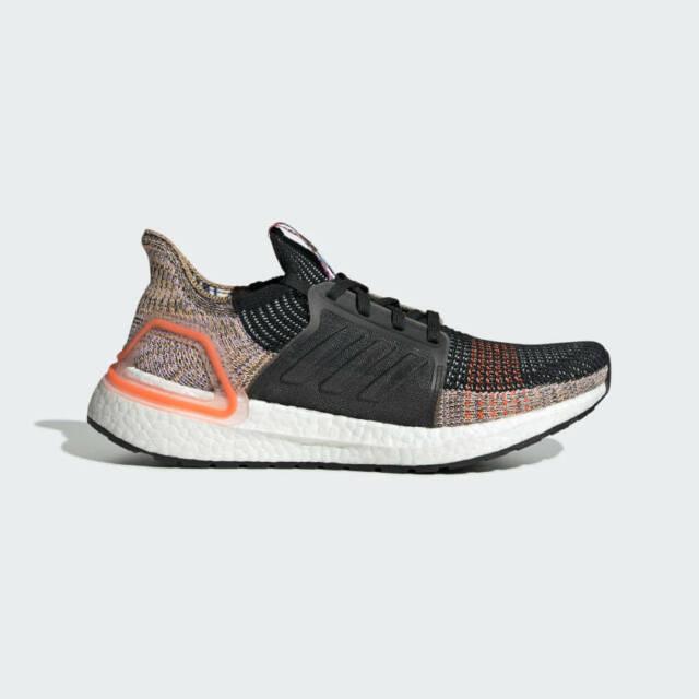 Adidas Ultra Boost 19 Womens Running Shoes Core Black/White/Solar Orange G54017