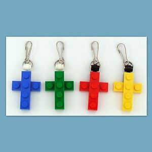 4-48-Lot-Zipper-Pull-w-Custom-LEGO-Mini-Cross-Pendant-Birthday-Party-Favor