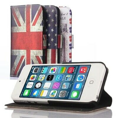 Cover custodia in similpelle vintage a strisce per Apple iPhone 6