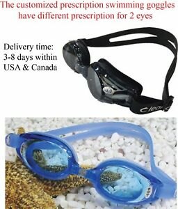 407d144a7f88 Image is loading Leacco-Customized-Prescription-Swimming-Goggles-Nearsighted -swimming-goggles