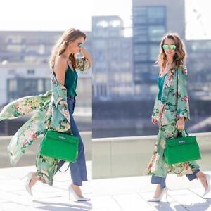 Lady-Women-Long-Maxi-Cardigan-Kimono-Loose-Shawl-Open-Front-Trench-Coat-Jacket