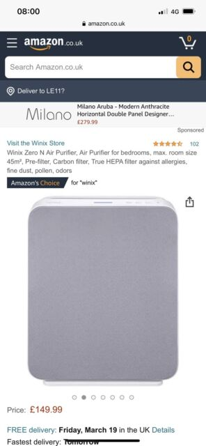 Winix Zero N Air Purifier Carbon  HEPA filter JOBLOT X10 cash On Collection Only