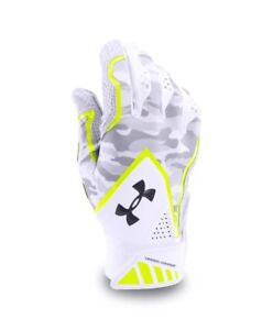Under Armour White Ua Yard Undeniable Batting Gloves