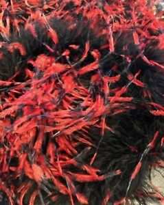 Halloween-Special-Offer-10x-ostrich-feather-boa-Black-With-Red-Tip
