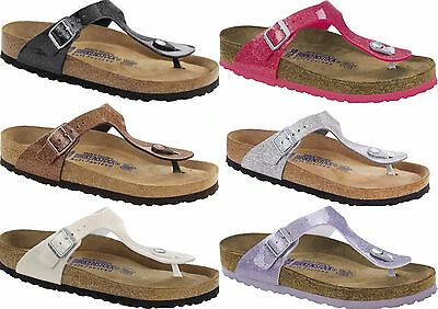 Birkenstock GIZEH NERO ARGENTO BIANCO ROSE Magic Galaxy morbido plantare Thongs Woman | eBay