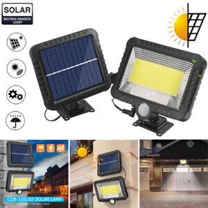 120LED Solarleuchte Bewegungsmelder Sensor Wandleuchte Gartenlampe Solarlampe