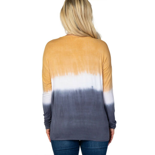 Details about  /Womens Maternity Long Sleeve T-Shirts Pregnant Tie Dye Blouse Casual Shirts Tops