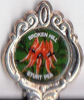 Broken Hill-NSW-Sturt Pea- Australia-Souvenir Spoon