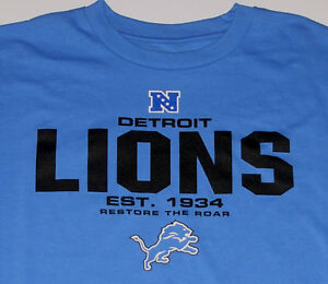 new arrival ae003 881db Details about Detroit Lions T-Shirt Short Sleeve size Large Brand New w/Tag
