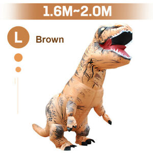 Inflatable Dinosaur Suit Halloween Costume Rider T-rex Jurassic Fancy Dress Part
