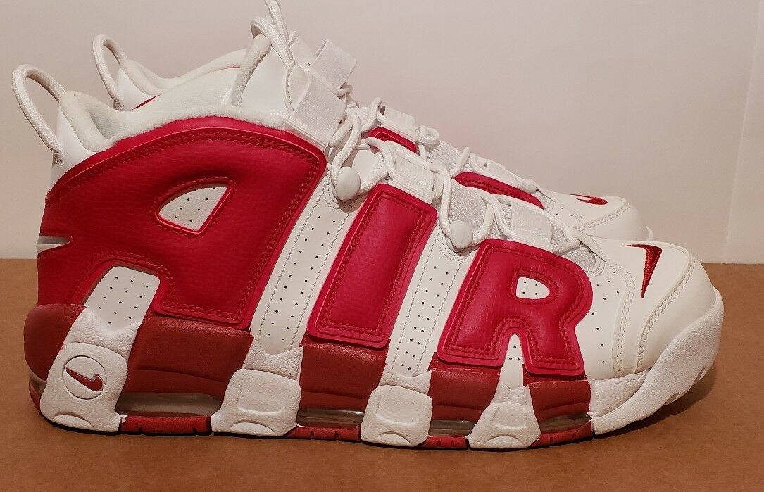 Size 13 Nike Air More Uptempo 96 White Gym Red NEW force max pippen penny lebron