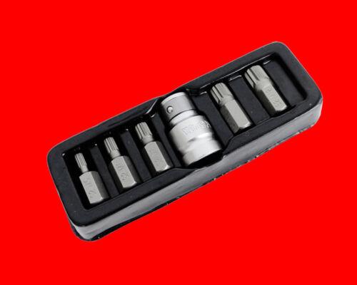 M12 Vielzahnschlüssel Y0414 Vielzahn 12-KANT Stecknuss Aufsteck Bits M5 6 tlg