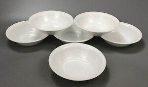 Set-of-6-Corelle-Corning-Bella-Faenza-White-Embossed-Salad-Soup-Bowls-2-AA