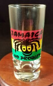 Collectible-Barware-Shooter-Shot-Glass-Jamaica-No-Problem