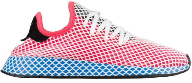 efd7b6b1a19 Mens adidas Deerupt Runner Solar Red Blue Bird White Black Cq2624 US .