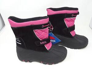 aea3c270d5283 New!! Youth Girls Totes Kids Jillian Black Winter Snow BOOTS ...