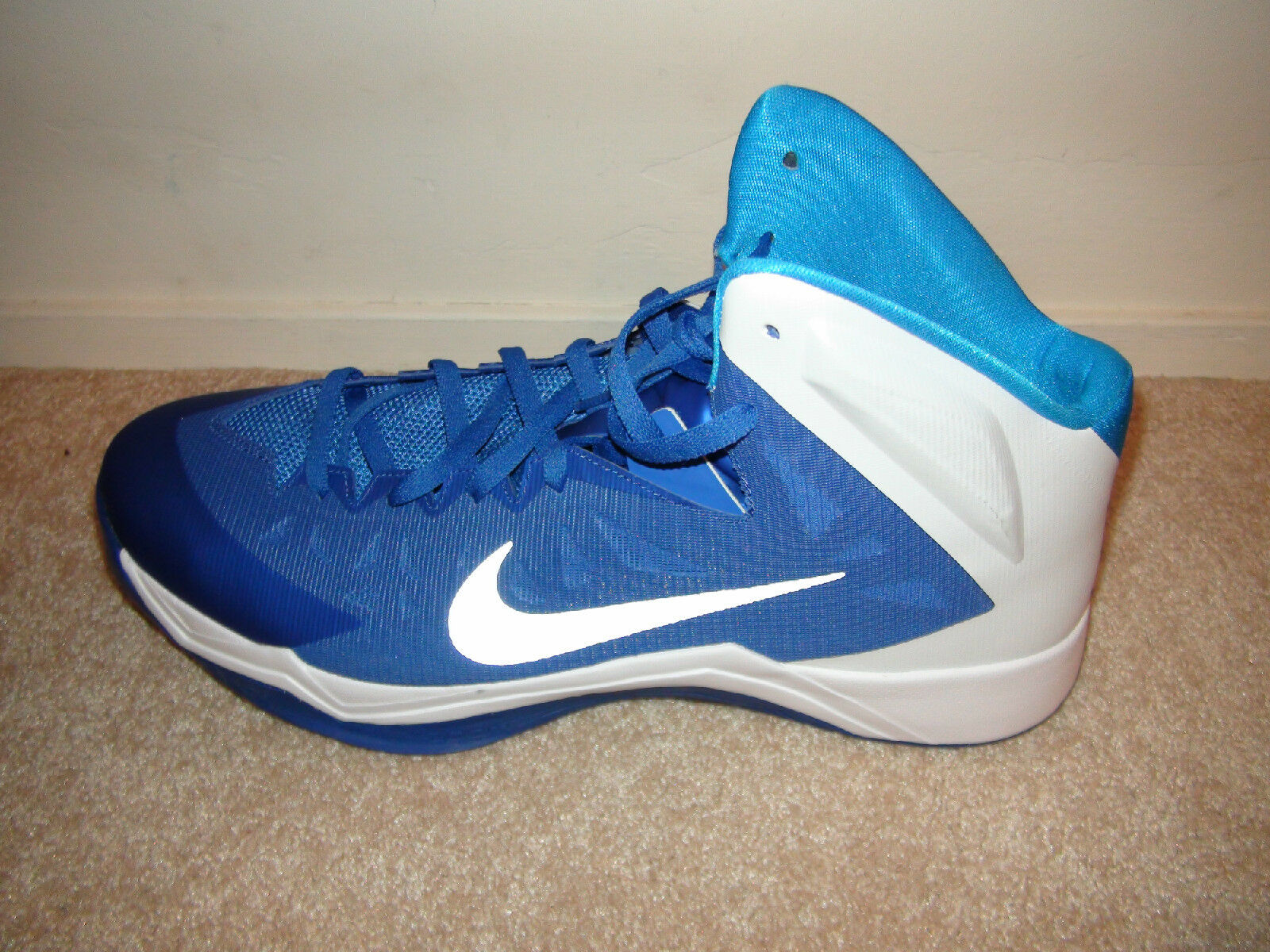 Men's NIKE ZOOM HYPERQUICKNESS TB Basketball Shoes 599420 401 Blue White 18  NEW