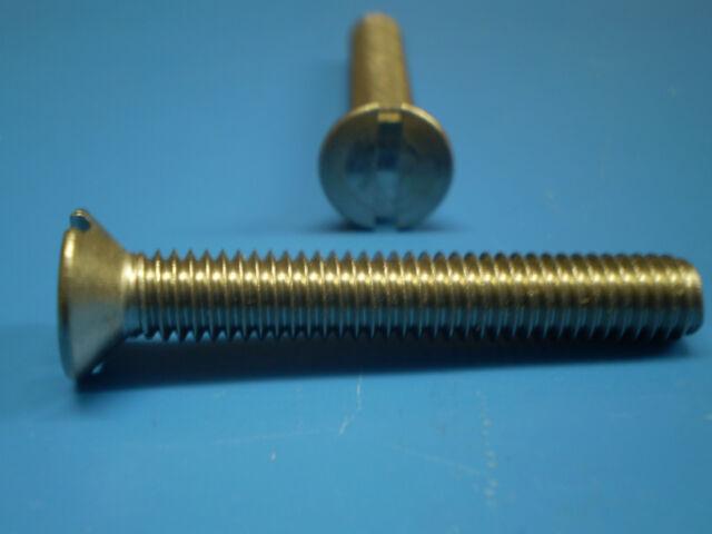 Senkschrauben mit Schlitz verzinkt M4 x 16 Fastbolt neu 4.8 1-500 Stk DIN 963