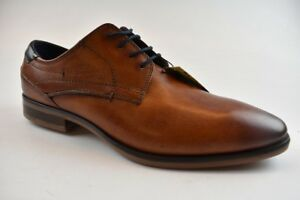 Details zu Bugatti Herren Business Schuh Leder Cognac in der Gr. 42