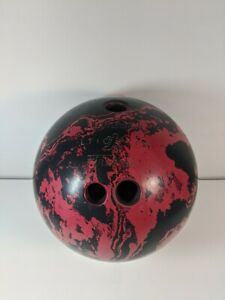 Brunswick-FIREBALL-Bowling-Ball-13-Lb-Red-Swirls-L71-P75