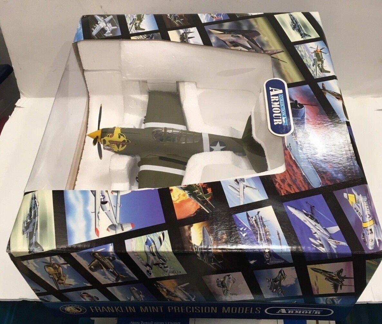NEW NEW NEW BOX FRANKLIN MINT P-40 WARHAWK ALEUTIAN TIGERS B11B544 1 48 MODEL AIRPLANE c1abf6