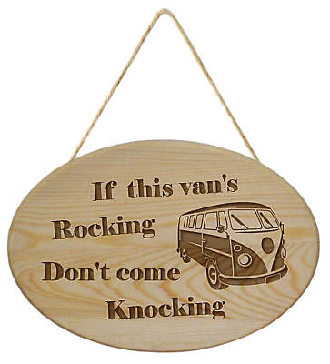 Don/'t Come Knocking If The Van/'s Rocking Camping Small Metal//Steel Wall Sign