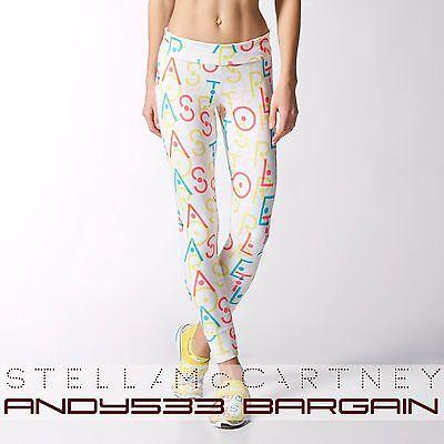 $90 adidas STELLA SPORT McCartney Women 7/8 Run Climalite® Tights LOGO Pants M L