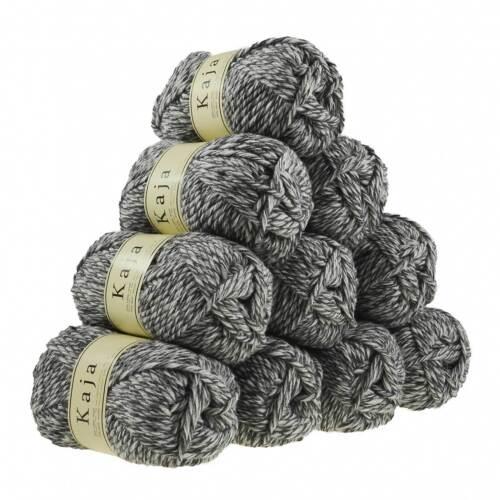 Jackenstrickgarn KAJA verschiedene Farben 10 x 100g Mützenwolle 25/% Wolle