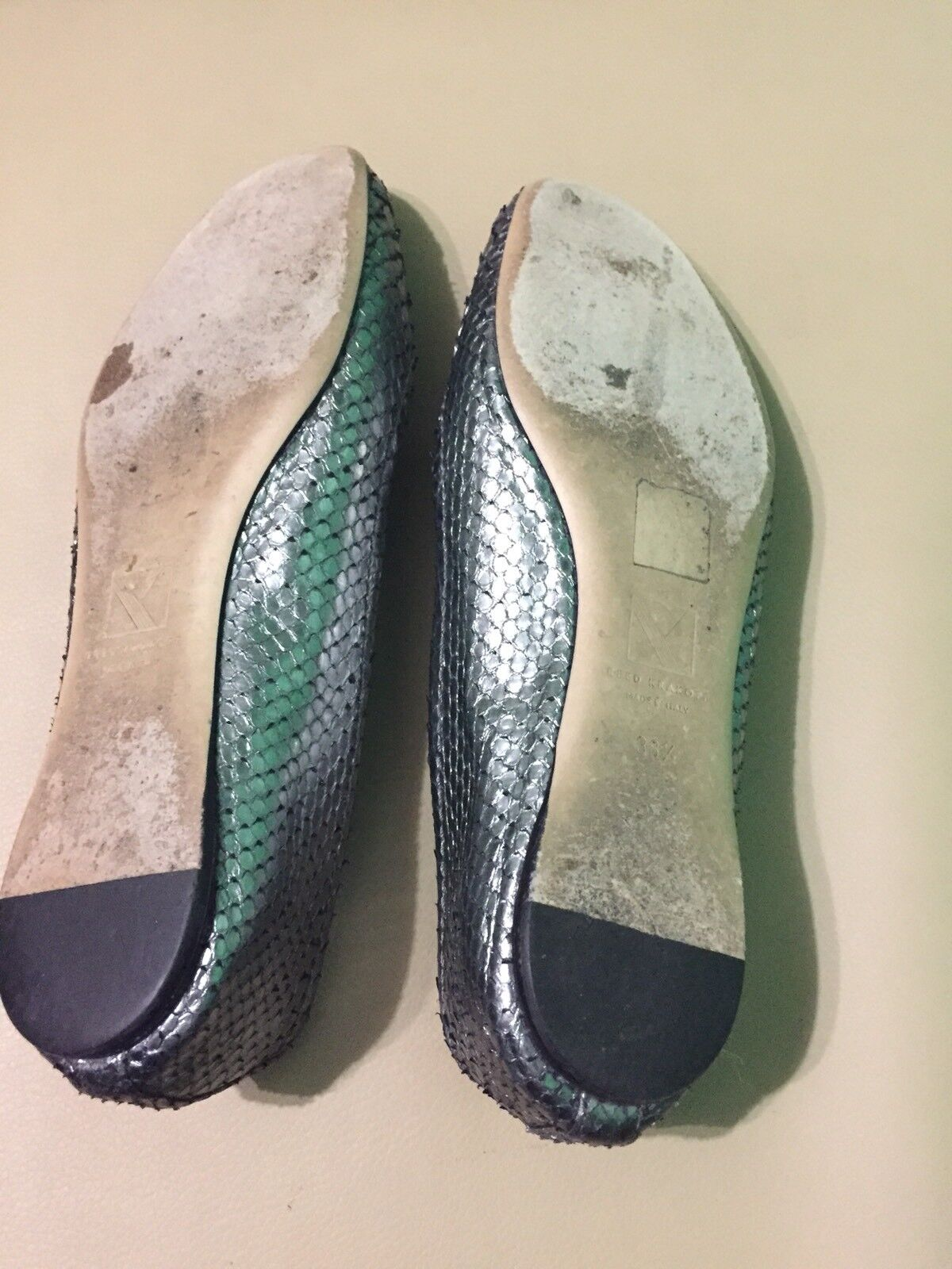 Reed Krakoff Womens 38.5 Metallic Round Toe Flat shoes shoes shoes made In  d6d6f3