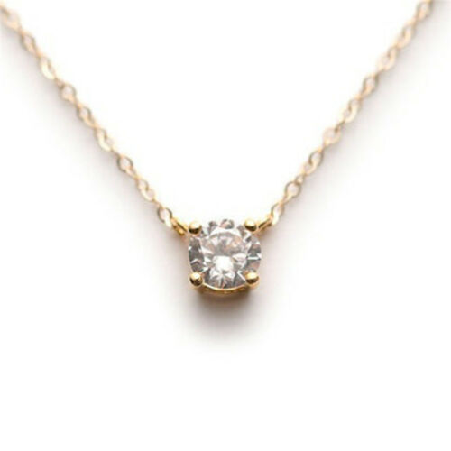 Elegant Clavicle Chain Simple Charm Pearl Wedding Jewelry Crystal Necklace IT