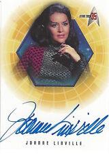 2001 STAR TREK 35TH ANNIVERSARY HOLOFEX  - AUTOGRAPH A1 Joanne Linville