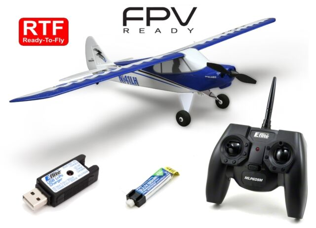 3X Battery Ultimate Combo HobbyZone Sport Cub S RTF R//C RC Electric Airplane