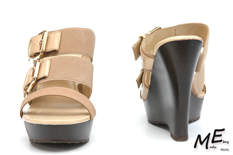New Charles by Charles David Flite Wedge Donna Wedge Flite Sandals Sz 10 (MSRP  130) 83d257