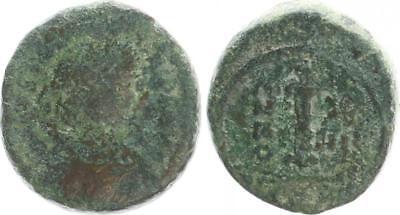 Ausdrucksvoll Byzanz Justinianus I Münzen Mittelalter 527-565 N.chr Dekanummion Karthago 540/41 S-ss