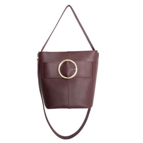Handbags Women Black Ottu Wine Korea Fashion Leather Party Bag Synthetic Cross hCxsrtdQ