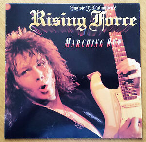 Schallplatte-Vinyl-Yngwie-J-Malmsteen-039-s-Rising-Force-Marching-Out-LP-1985