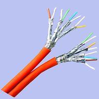 Duplex Twin Cat.7 Verlegekabel 100m Gigabit Lan Ethernet Netz Kabel Netzwerk