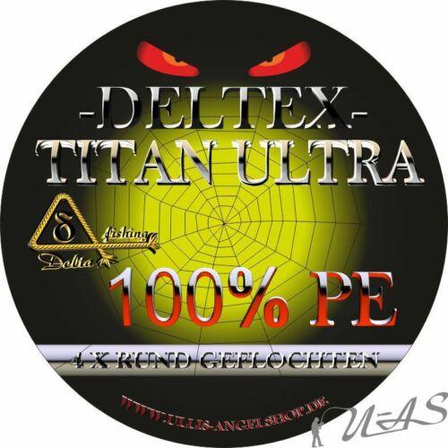 DELTEX Titan Ultra Grau 0.12mm 7.60kg 500M Rund Geflochtene Angelschnur Kva