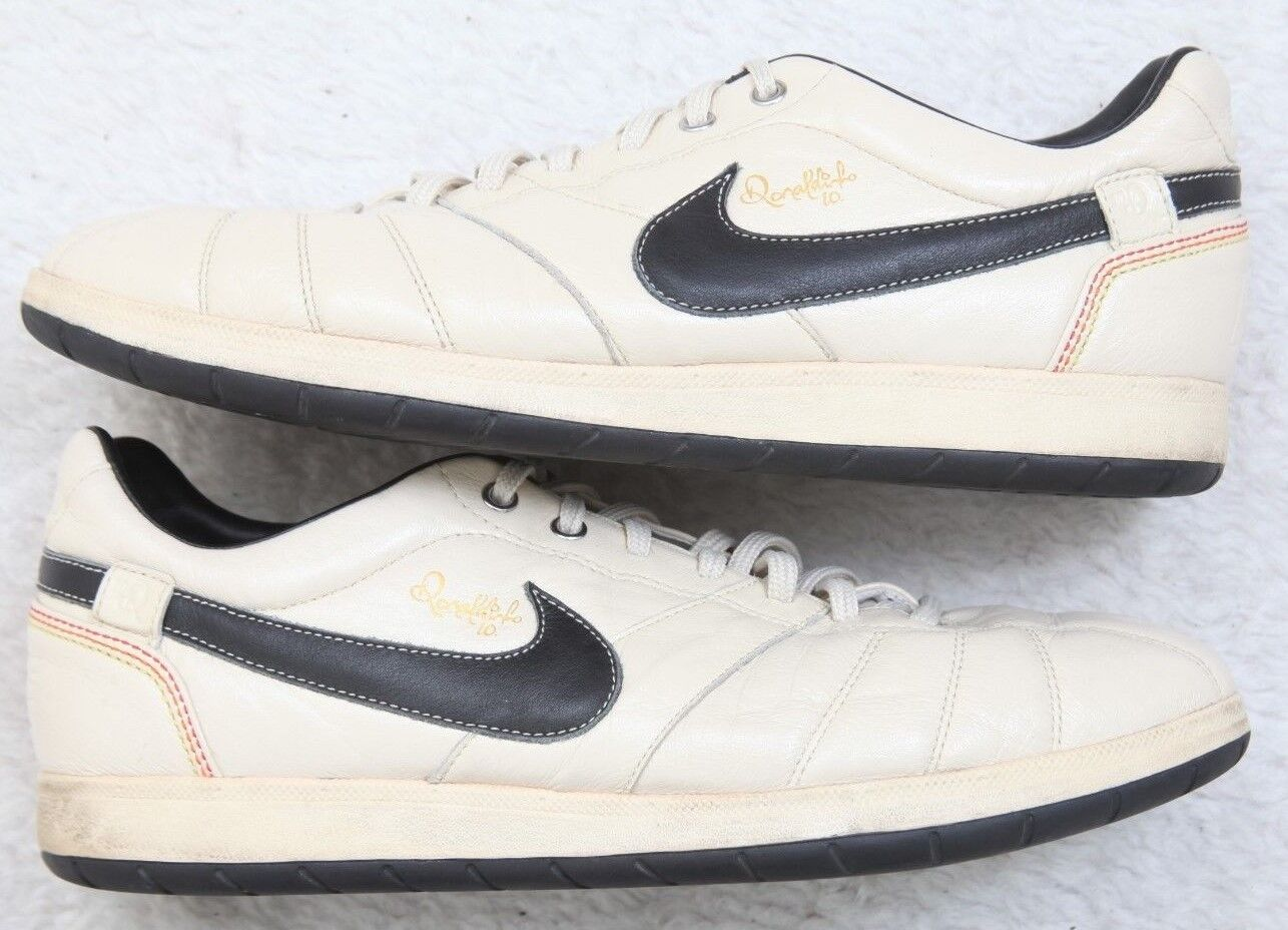 Nike Ronaldo Off White 10.5 Ten 1 2 Cream Leather Low Top Sneakers Euro 44.5