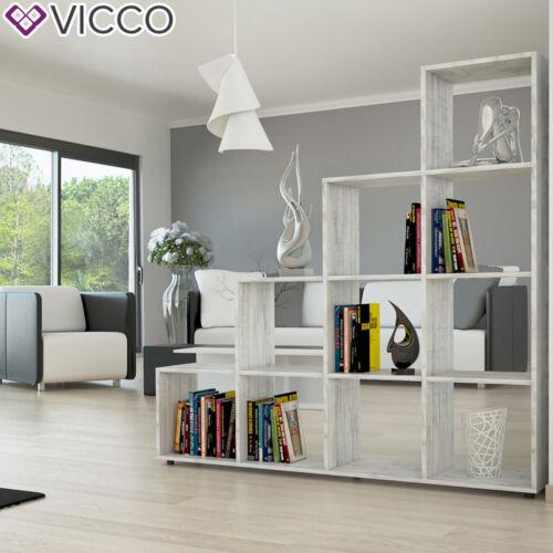 VICCO Meuble rangement Bibliothèque Etagère de séparation