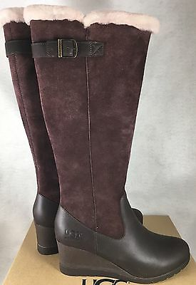2f6afe49931 UGG Australia Women's Mischa Boots Stout Brown Waterproof Suede Leather  1013887 | eBay