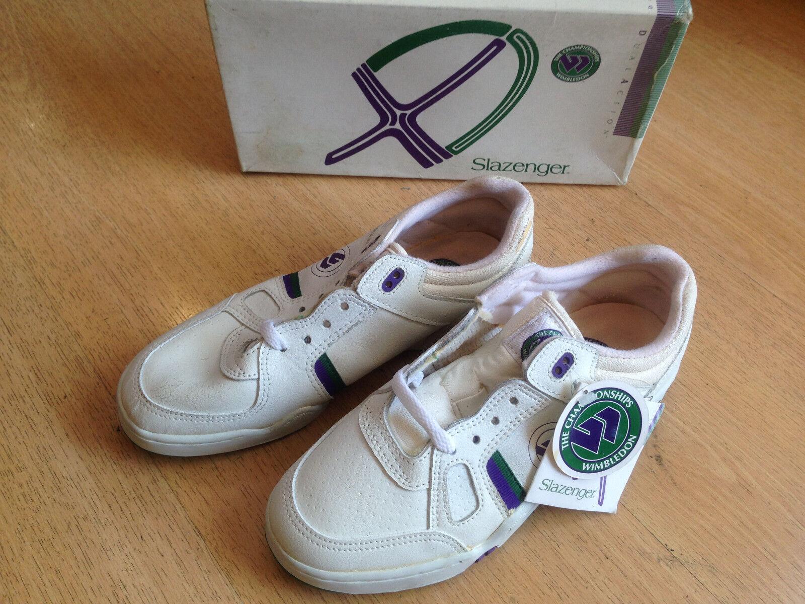 OG 1990 Slazenger Wimbledon vintage scarpe da ginnastica size US7.5 UK5 EUR38 VERY RARE!!