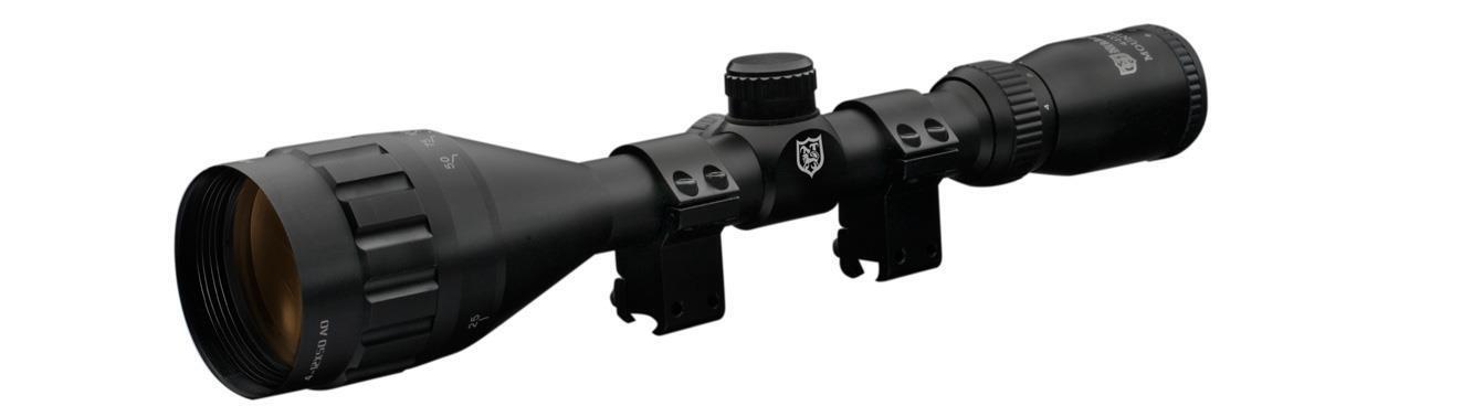 Nikko Mountmaster 4-12x50 ao medio Mil Dot Retícula rifle Alcance + 9-11 mm se monta