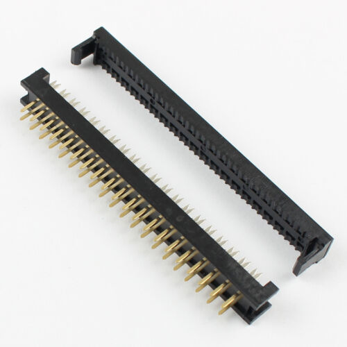 100Pcs 2.54mm Pitch 2x20Pin40 Pin Male Header FD IDC Cable Transition Connector