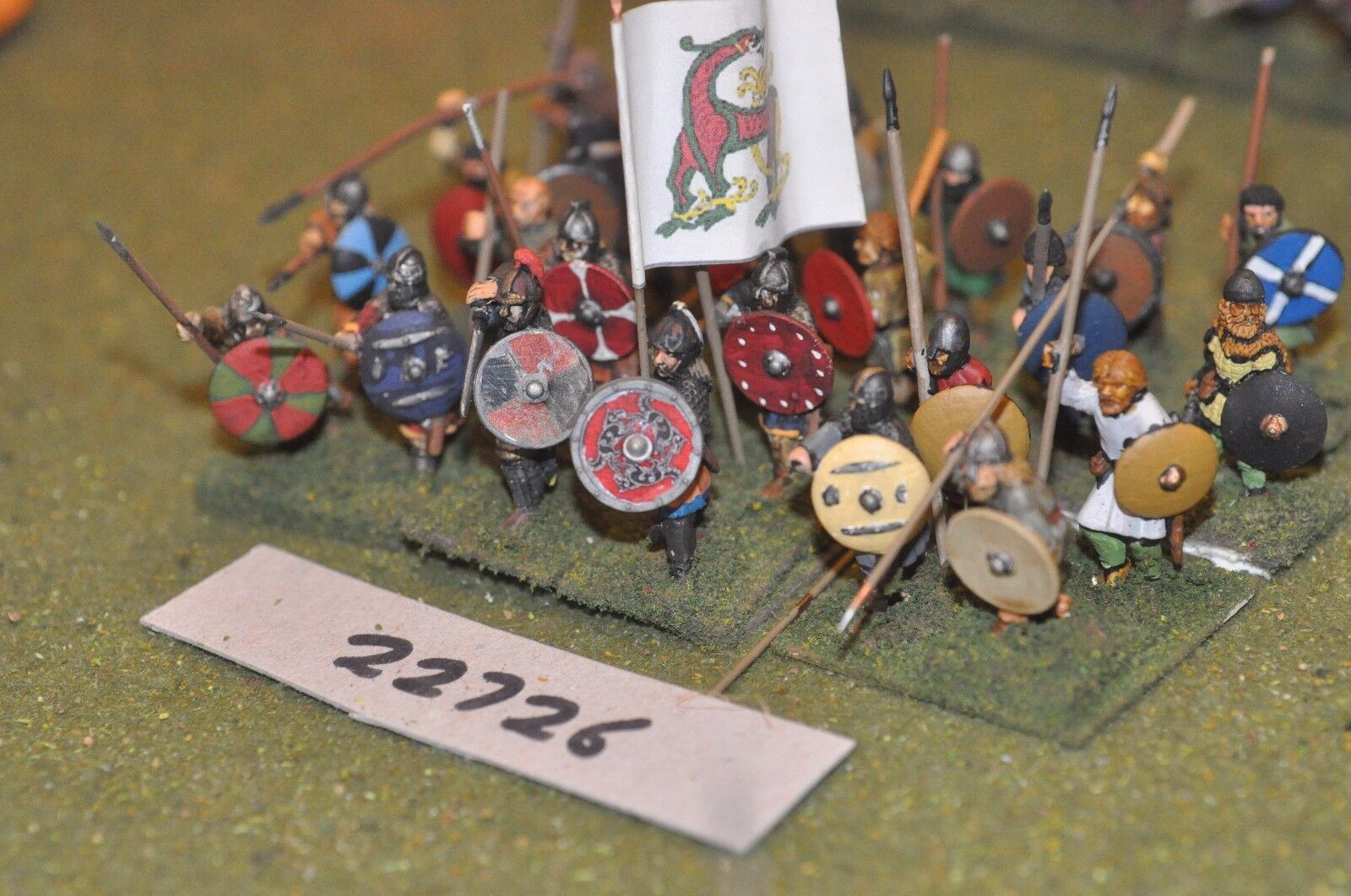 25mm dark ages   anglo saxon - spearmen 24 figs inf - inf (22726)