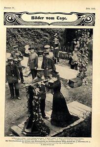 MüHsam Erbprinzessin V.sachsen-meiningen Beteiligt Sich Am Tintenfassschiessen Von 1902 Top Wassermelonen 1871-1918